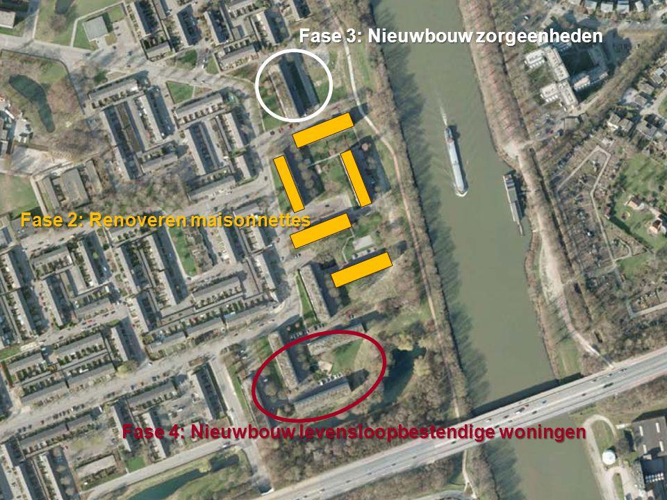 Gemeente Nijmegen Fase 3: Nieuwbouw zorgeenheden Fase 4: Nieuwbouw levensloopbestendige woningen Fase 2: Renoveren maisonnettes
