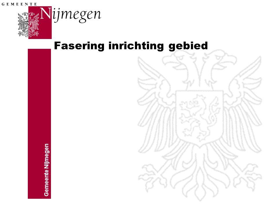 Gemeente Nijmegen Fasering inrichting gebied