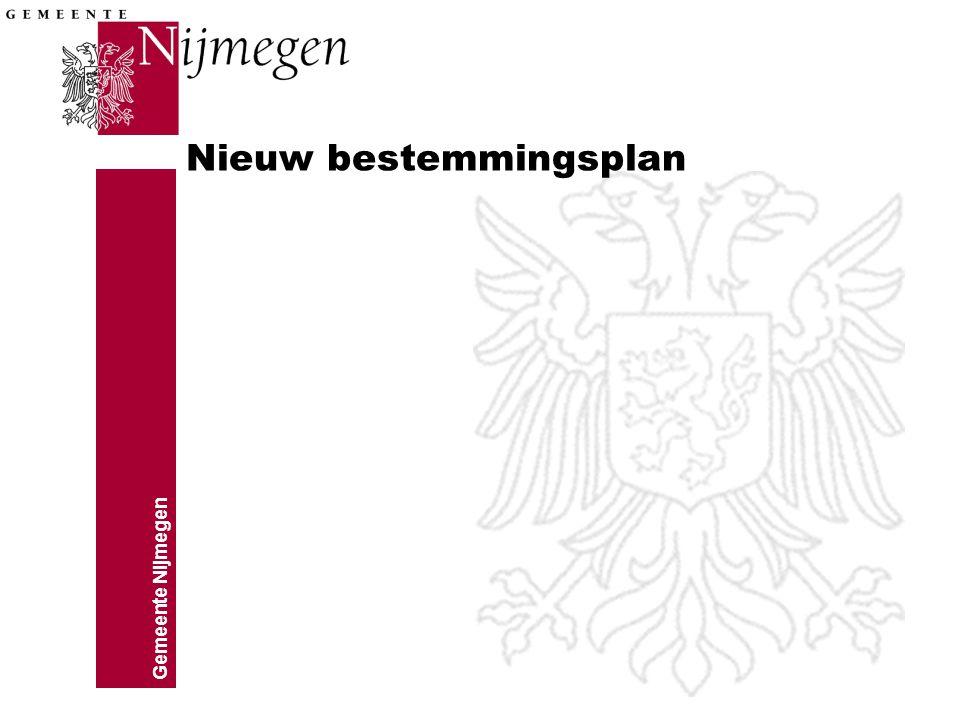 Gemeente Nijmegen Nieuw bestemmingsplan