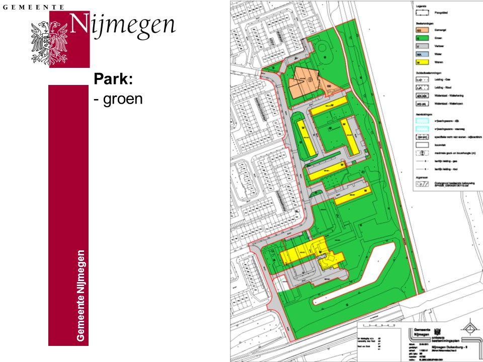 Gemeente Nijmegen Park: - groen