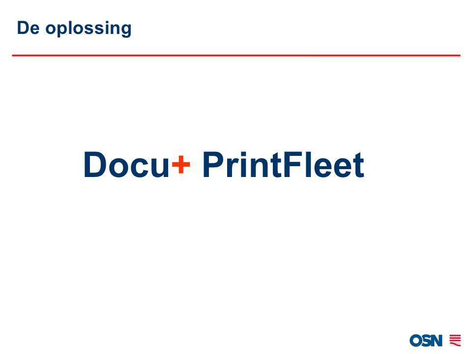 Docu+ PrintFleet Notificatie