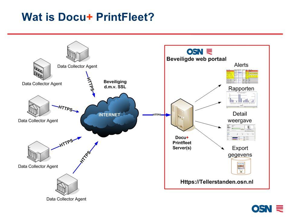 Het beheren van printer informatie –Een geautomatiseerde oplossing Merk onafhankelijk Rapporteren –Zowel in PDF als.CSV formaat te exporteren Overzichtelijk –D.m.v.