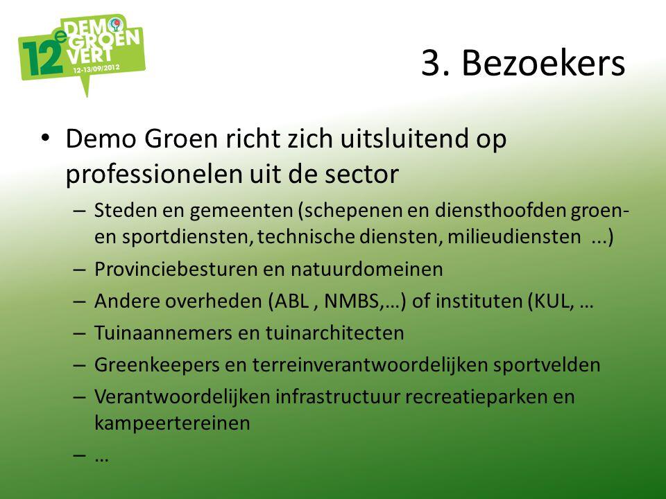 3. Bezoekers Demo Groen richt zich uitsluitend op professionelen uit de sector – Steden en gemeenten (schepenen en diensthoofden groen- en sportdienst