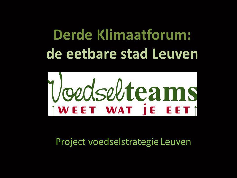 Derde Klimaatforum: de eetbare stad Leuven Project voedselstrategie Leuven