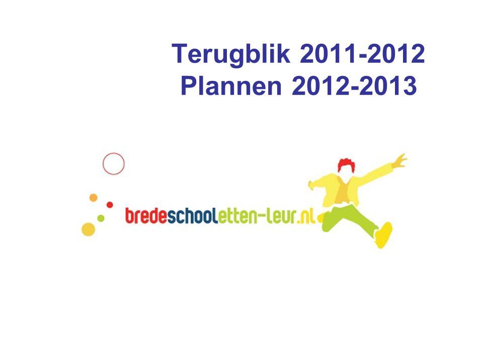Terugblik 2011-2012 Plannen 2012-2013