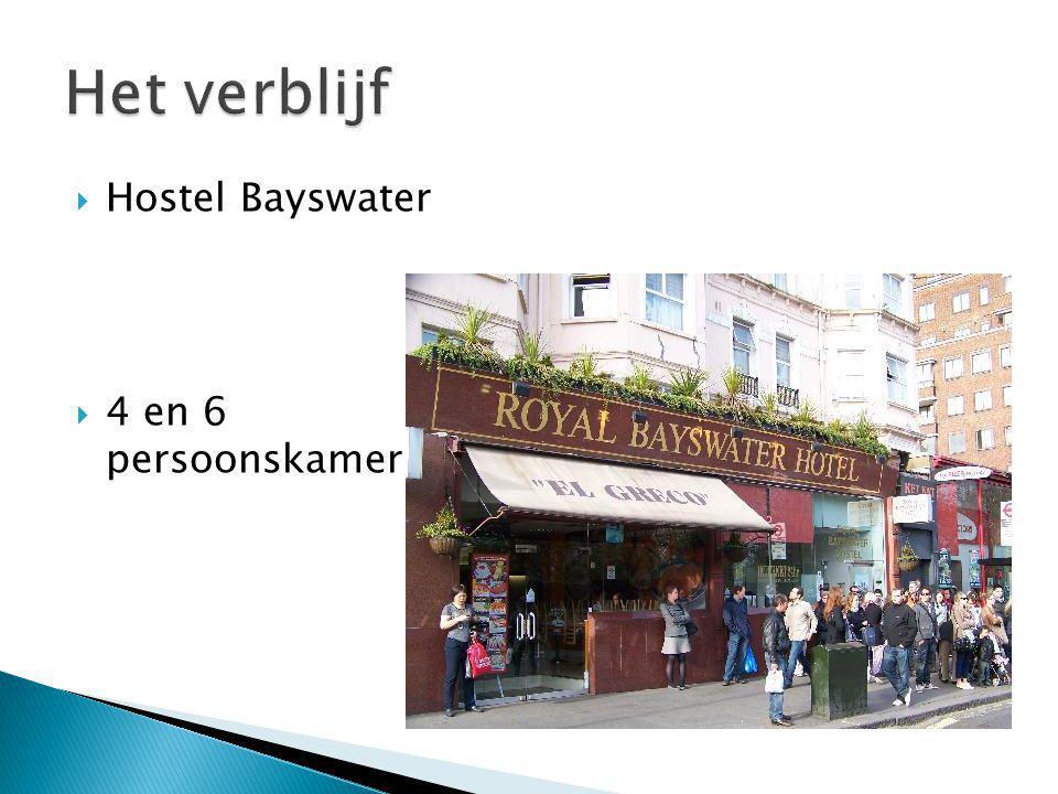  Hostel Bayswater  4 en 6 persoonskamer