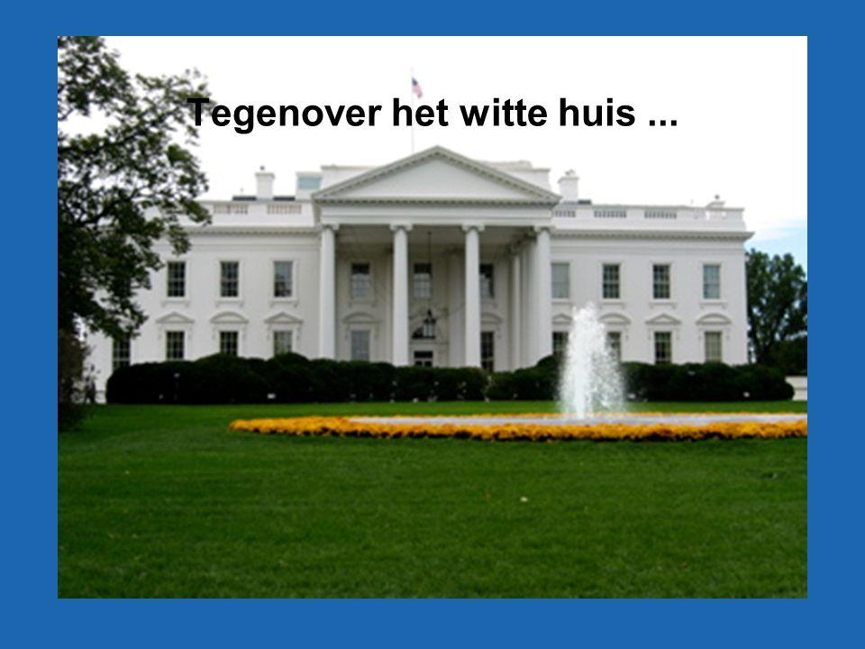 Tegenover het witte huis...