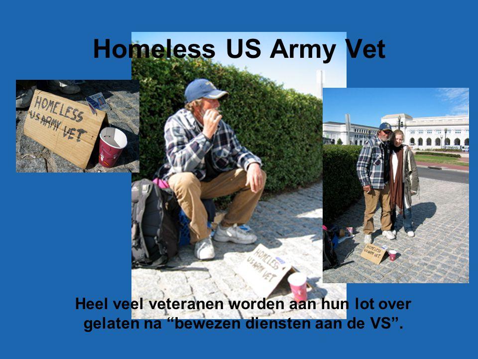Homeless US Army Vet Heel veel veteranen worden aan hun lot over gelaten na bewezen diensten aan de VS .