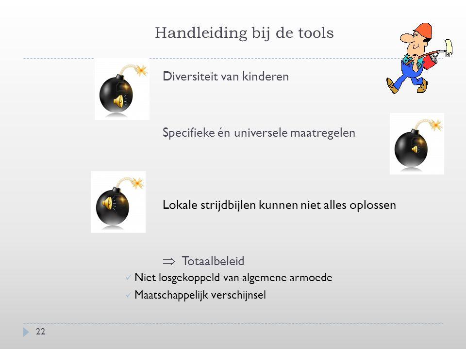 Handleiding bij de tools  Een rijkdom aan strijdmogelijkheden  Geïntegreerde strategie  Bijeenbrengen van lokale stakeholders (diversiteit!!.