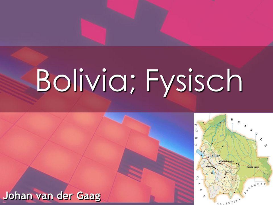 Bolivia; Fysisch Johan van der Gaag