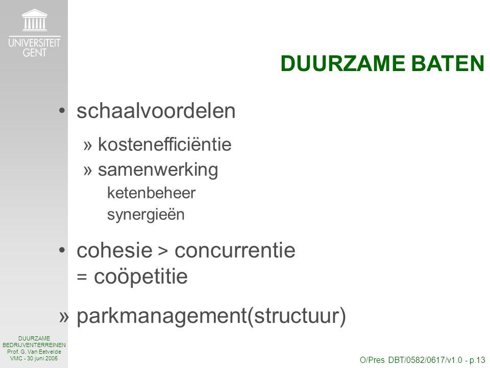 O/Pres DBT/0582/0617/v1.0 - p.13 DUURZAME BEDRIJVENTERREINEN Prof.