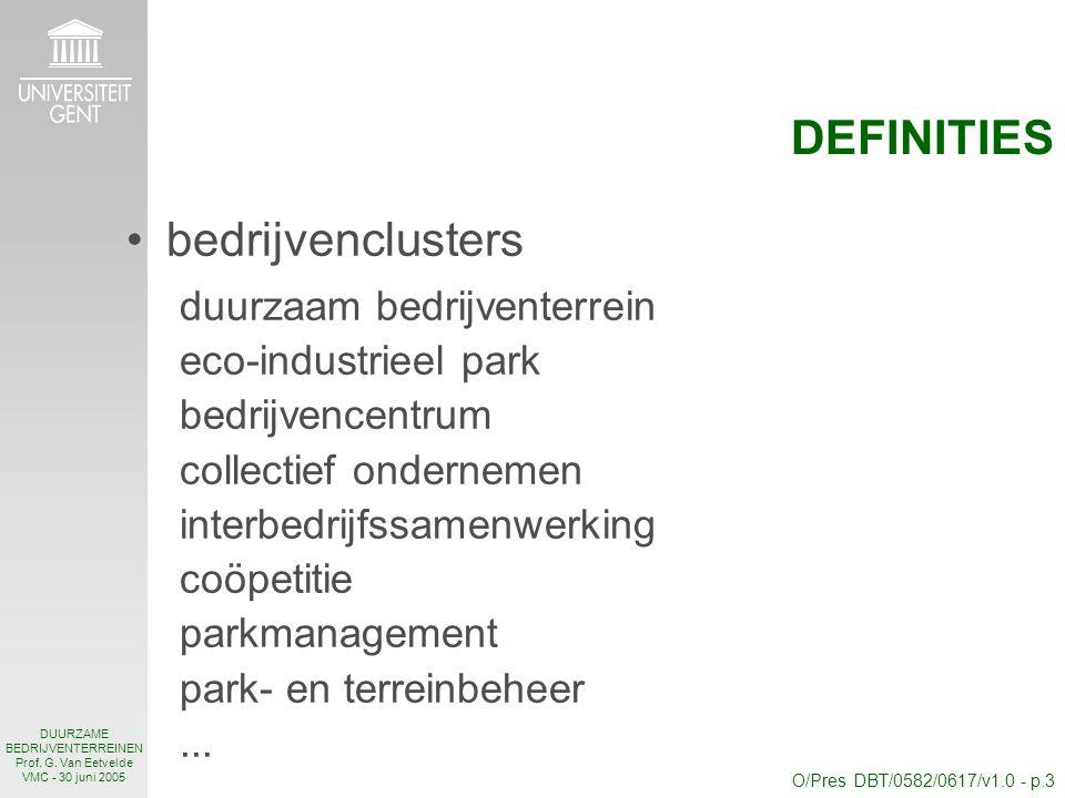 O/Pres DBT/0582/0617/v1.0 - p.3 DUURZAME BEDRIJVENTERREINEN Prof.