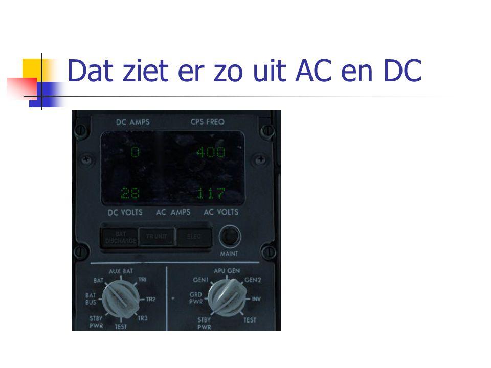 Dat ziet er zo uit AC en DC