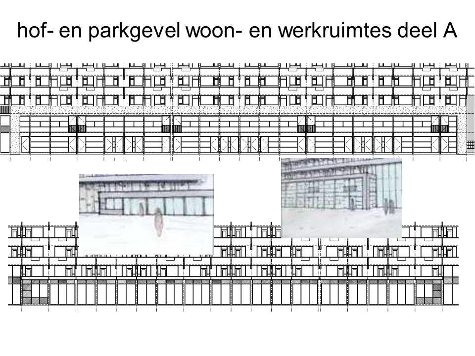 hof- en parkgevel woon- en werkruimtes deel A