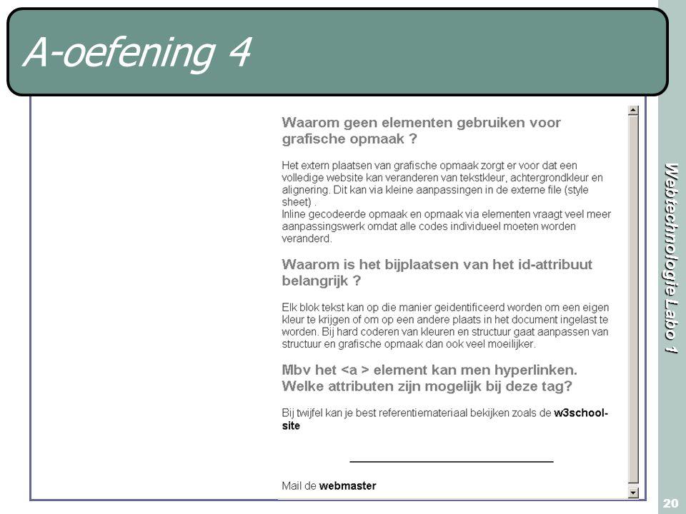 Webtechnologie Labo 1 20 A-oefening 4