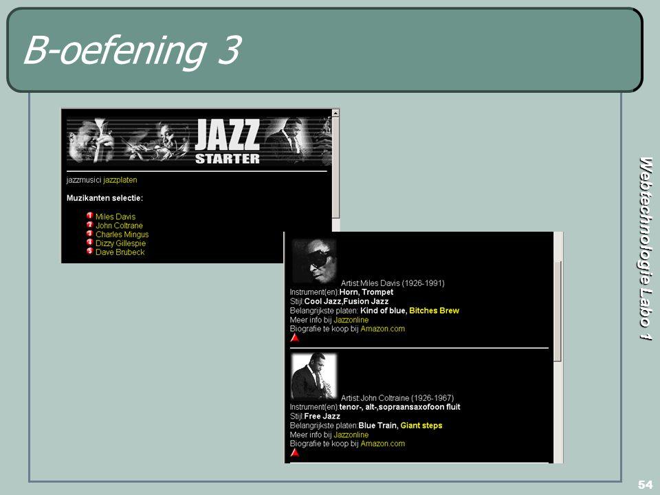 Webtechnologie Labo 1 54 B-oefening 3