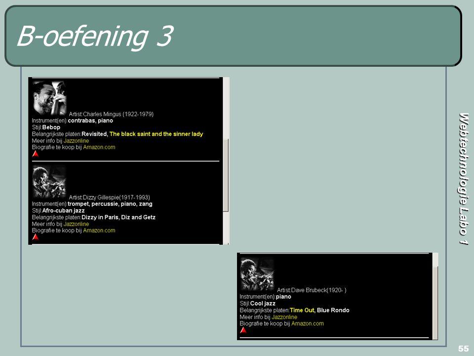 Webtechnologie Labo 1 55 B-oefening 3