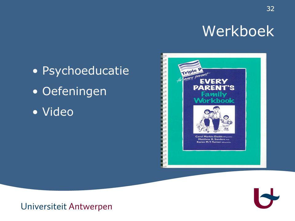 32 Werkboek Psychoeducatie Oefeningen Video