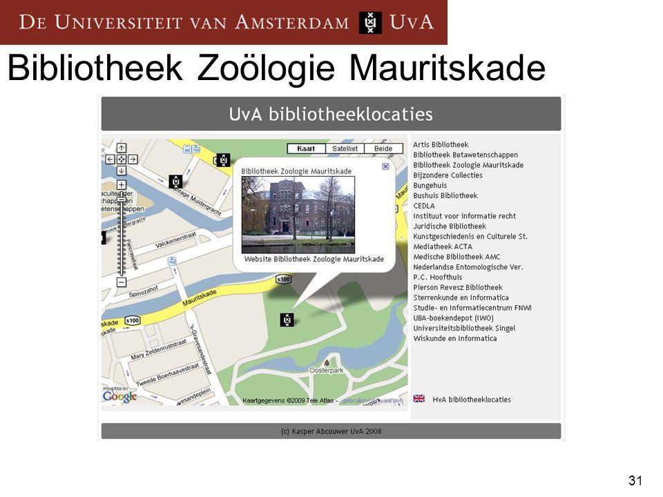 31 Bibliotheek Zoölogie Mauritskade
