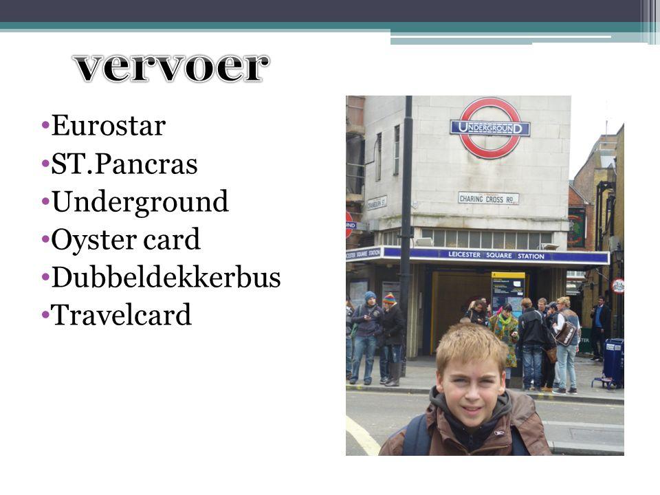 Eurostar ST.Pancras Underground Oyster card Dubbeldekkerbus Travelcard