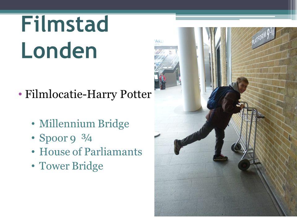 Filmstad Londen Filmlocatie-Harry Potter Millennium Bridge Spoor 9 ¾ House of Parliamants Tower Bridge
