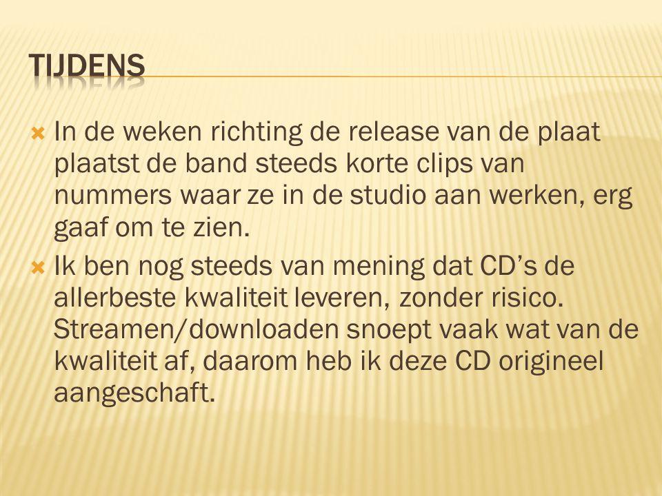  Ik ben letterlijk ervoor gaan zitten om de CD rustig af te laten spelen.