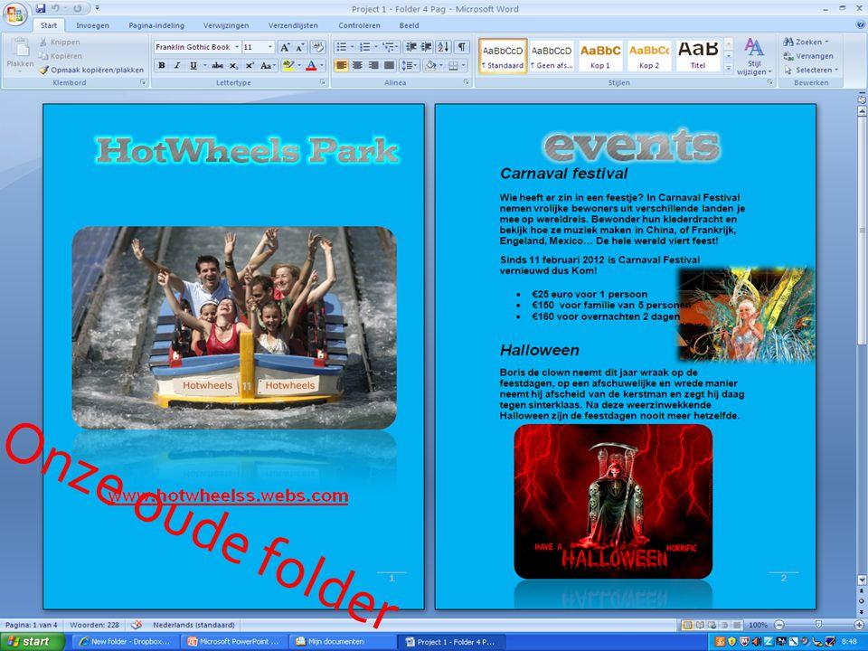 Onze folder gemaakt door Kursat De site's waar we onze informatie hebben gevonden. De plaatjes. De lettertype die is gebruikt. De prijzen van het attr