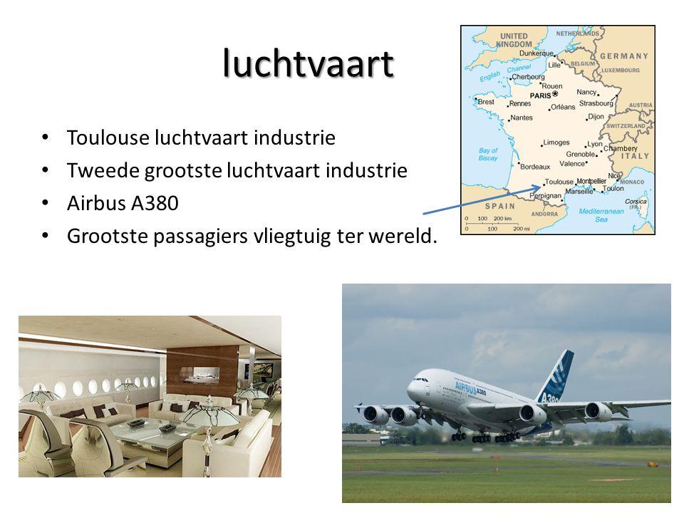 luchtvaart Toulouse luchtvaart industrie Tweede grootste luchtvaart industrie Airbus A380 Grootste passagiers vliegtuig ter wereld.