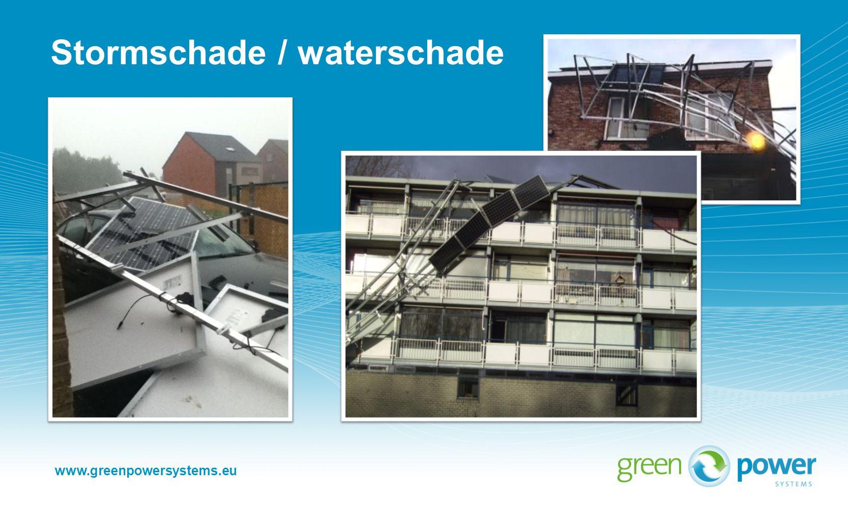 www.greenpowersystems.eu Stormschade / waterschade