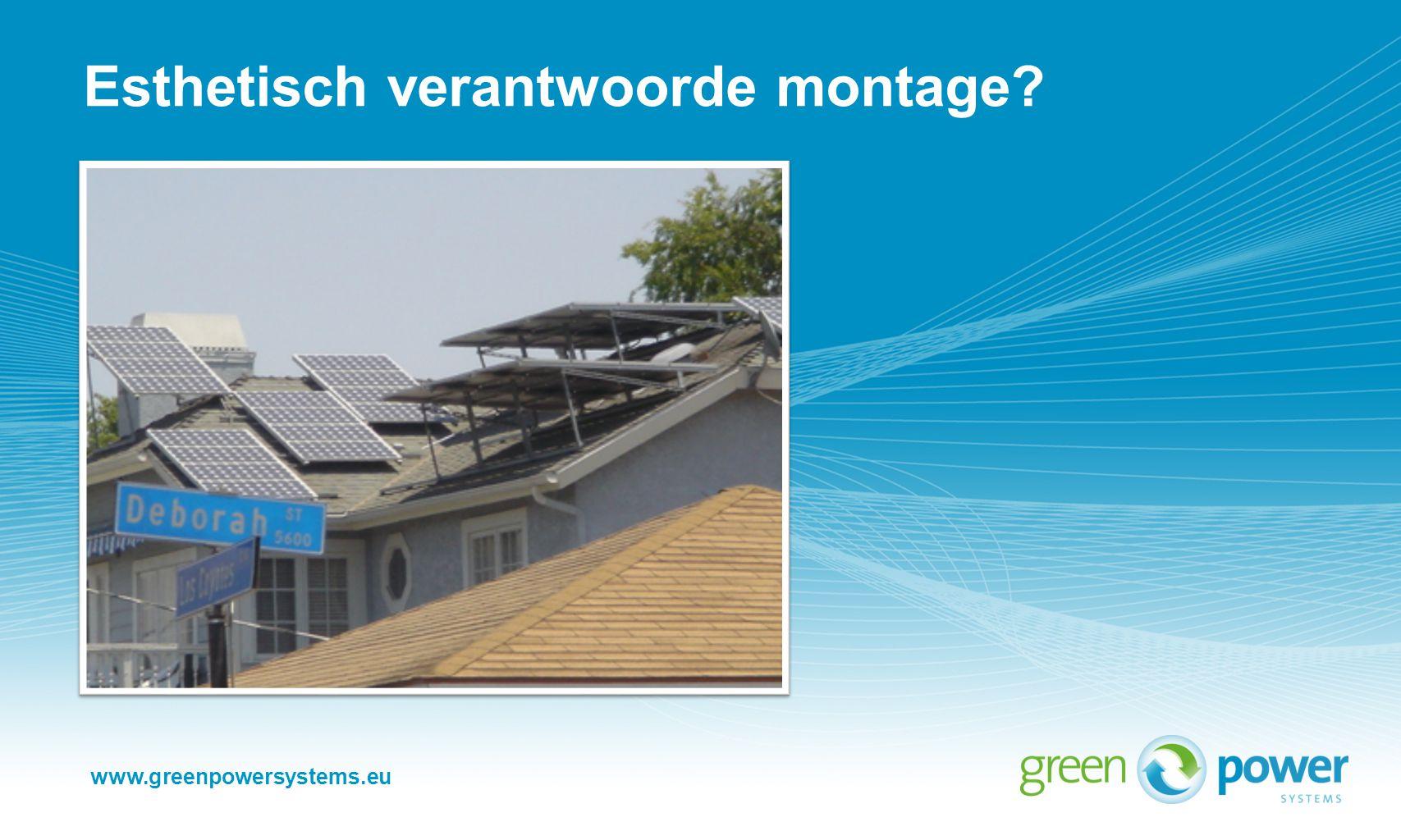 www.greenpowersystems.eu Esthetisch verantwoorde montage?
