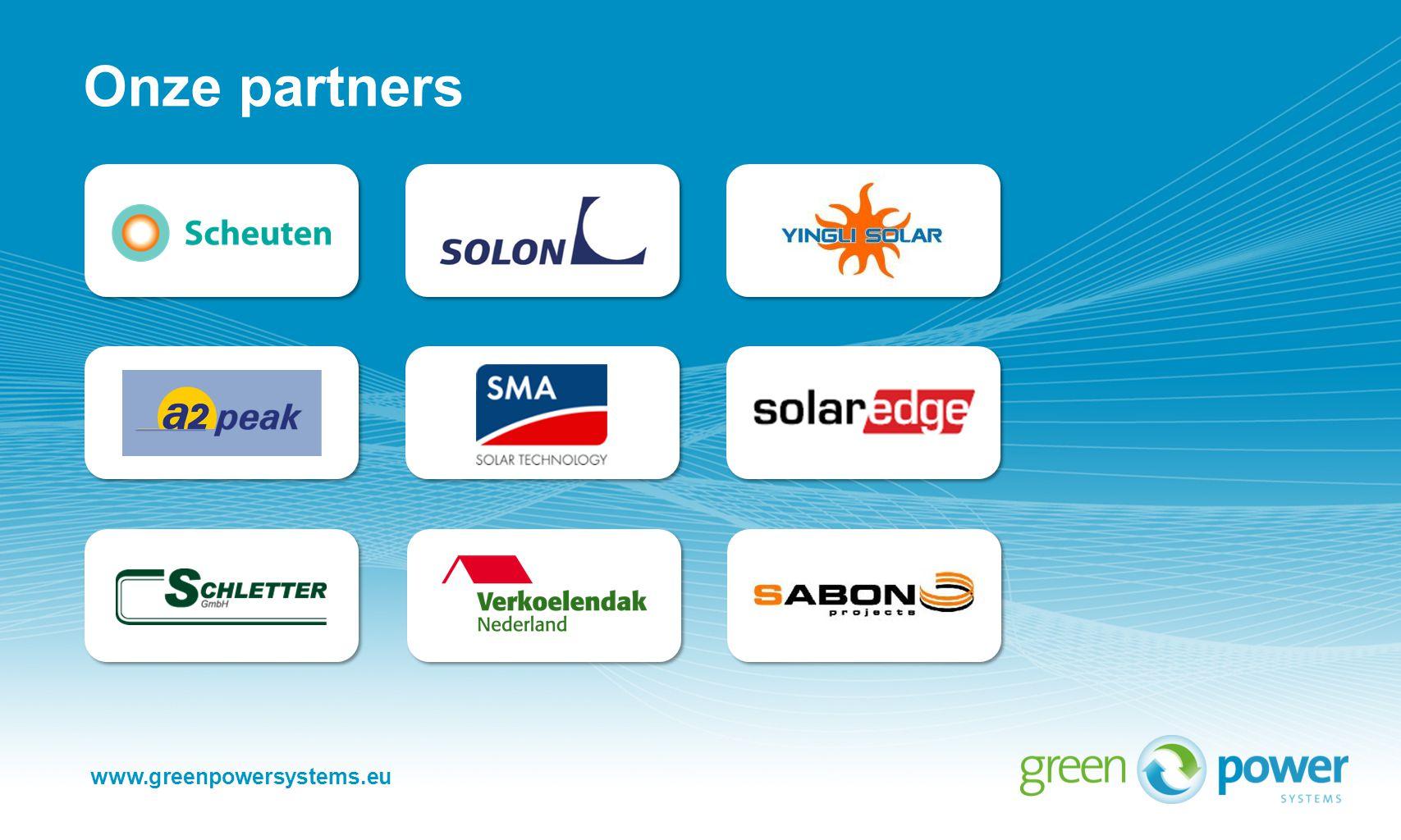 www.greenpowersystems.eu Onze partners