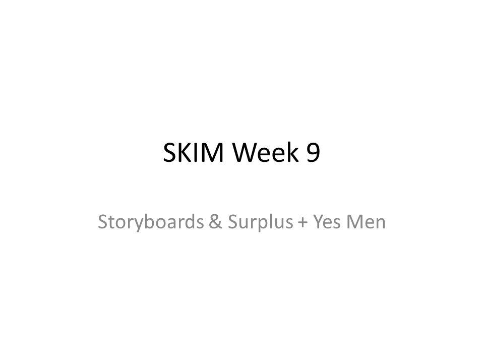 Vandaag Afgelopen 2 weken Surplus & The Yes Men Man Bijt Hond Storyboards Beoordelingscriteria Introductie in Interviewtechnieken (als we tijd over hebben)