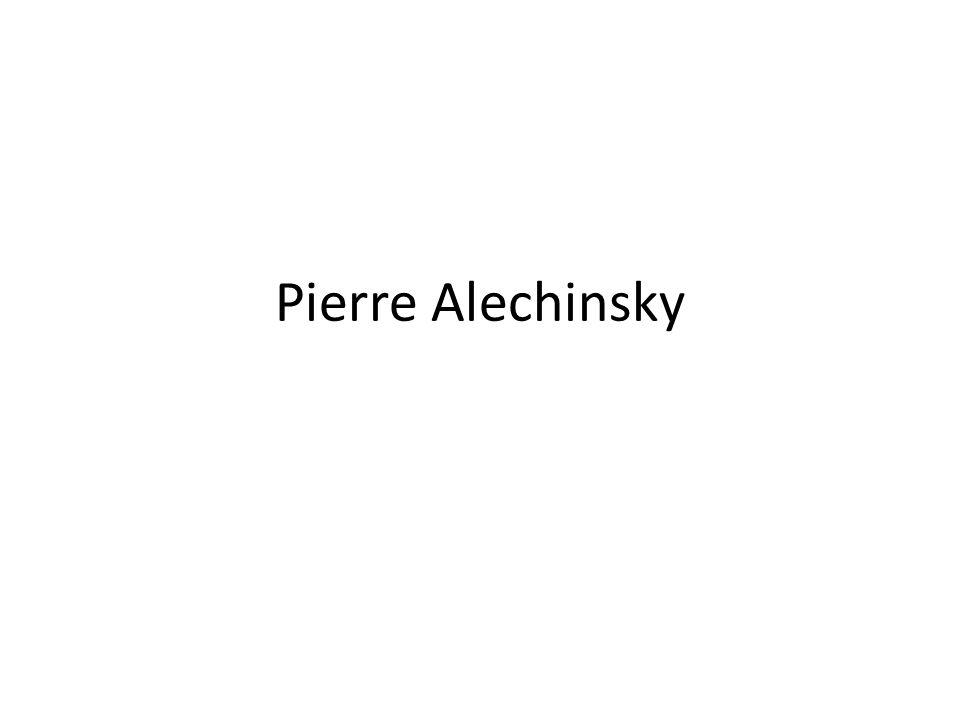 Central Park, Pierre Alechinksy 1965, acryl op papier, op doek Central Park, Pierre Alechinksy 1965, acryl op papier, op doek