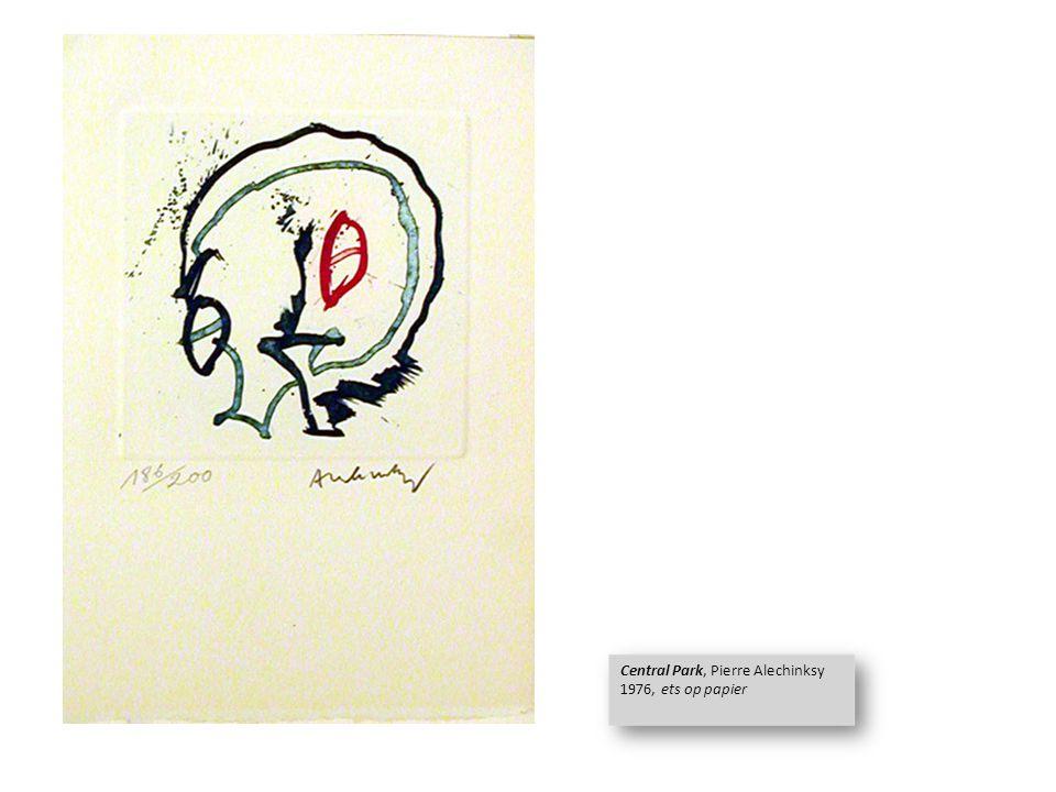Central Park 1, Pierre Alechinksy 1976, ets & lithografie Central Park 1, Pierre Alechinksy 1976, ets & lithografie