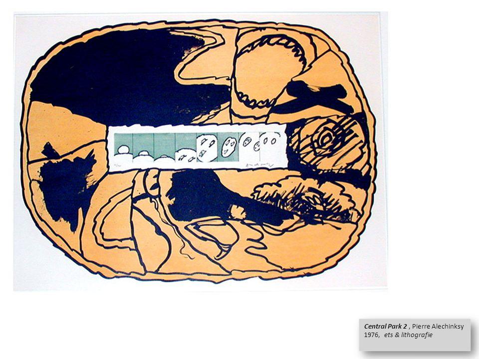 Central Park 2, Pierre Alechinksy 1976, ets & lithografie Central Park 2, Pierre Alechinksy 1976, ets & lithografie
