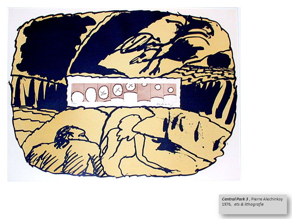 Central Park 3, Pierre Alechinksy 1976, ets & lithografie Central Park 3, Pierre Alechinksy 1976, ets & lithografie
