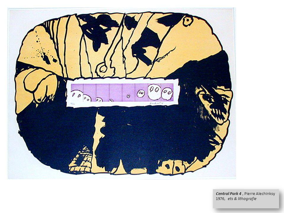 Central Park 4, Pierre Alechinksy 1976, ets & lithografie Central Park 4, Pierre Alechinksy 1976, ets & lithografie