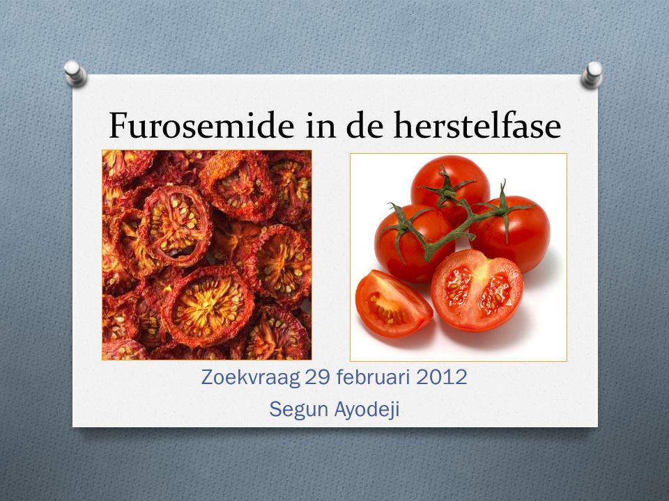 Furosemide in de herstelfase Zoekvraag 29 februari 2012 Segun Ayodeji