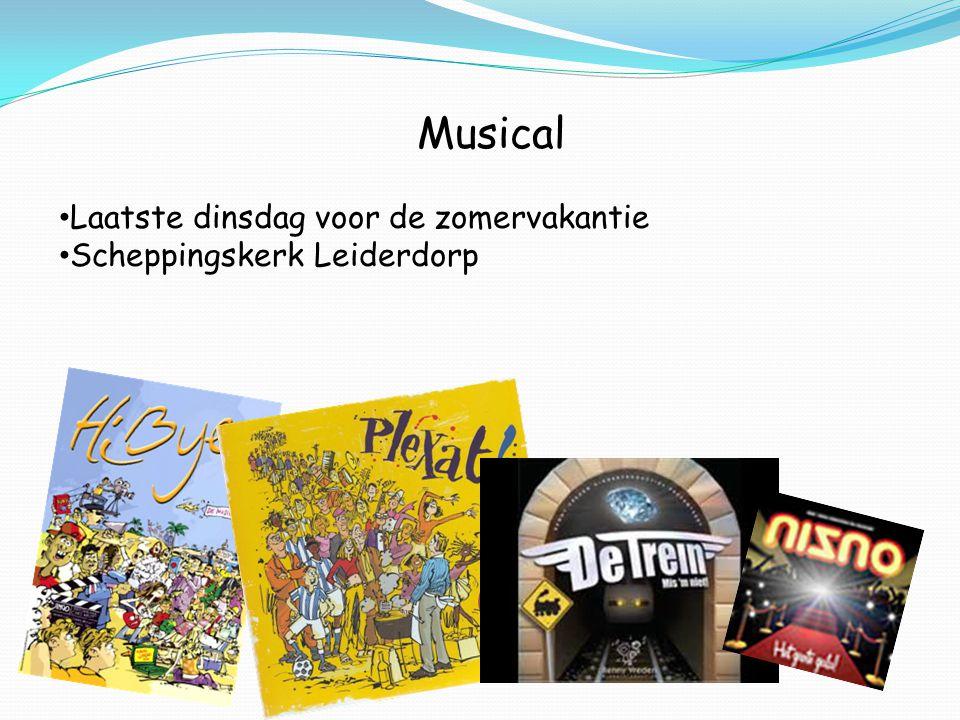 Musical Laatste dinsdag voor de zomervakantie Scheppingskerk Leiderdorp