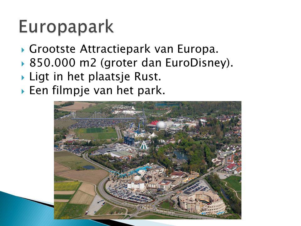  Grootste Attractiepark van Europa.  850.000 m2 (groter dan EuroDisney).  Ligt in het plaatsje Rust.  Een filmpje van het park.