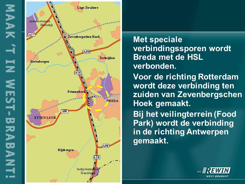 Met speciale verbindingssporen wordt Breda met de HSL verbonden.