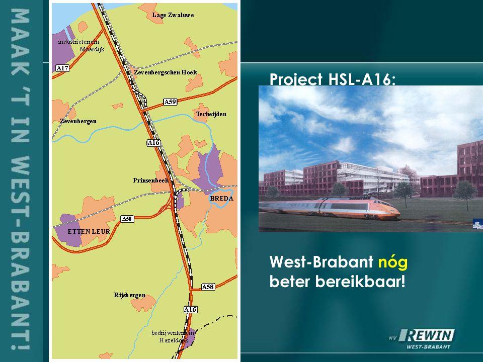 Project HSL-A16: West-Brabant nóg beter bereikbaar!