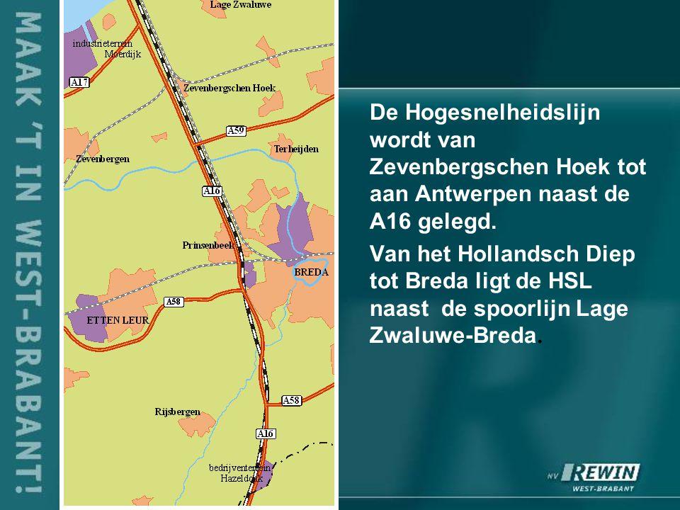 De Hogesnelheidslijn wordt van Zevenbergschen Hoek tot aan Antwerpen naast de A16 gelegd.