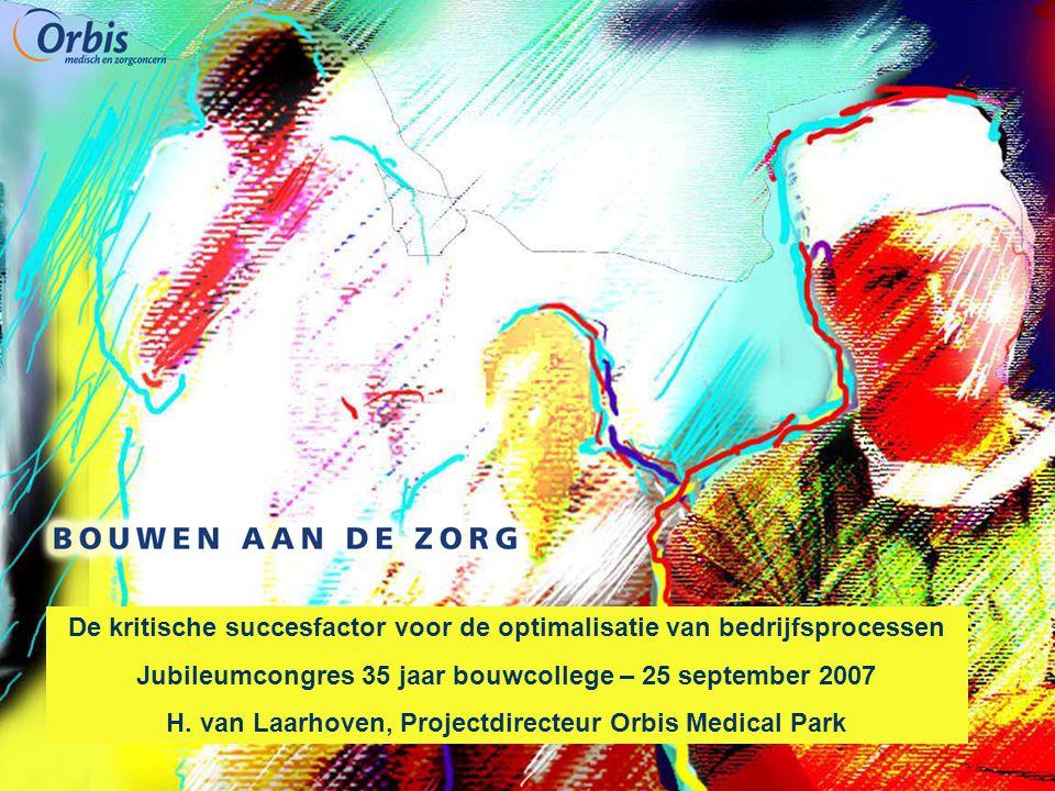 De kritische succesfactor voor de optimalisatie van bedrijfsprocessen Jubileumcongres 35 jaar bouwcollege – 25 september 2007 H. van Laarhoven, Projec