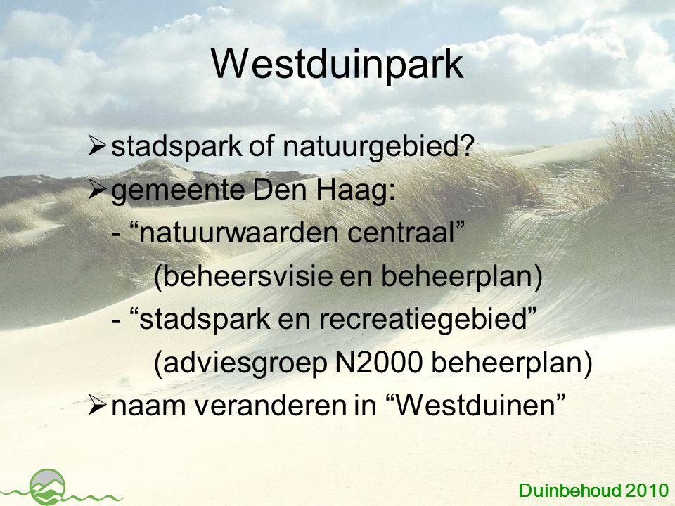 Westduinpark  stadspark of natuurgebied.