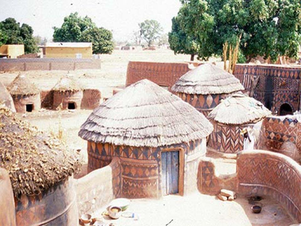 Kleine dorpen, nog geheel in traditionele stijl