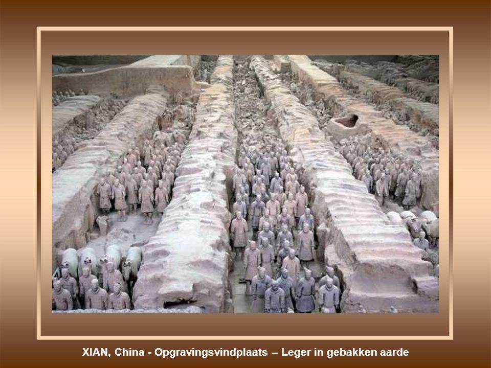 XIAN, China - Opgravingsvindplaats – Leger in gebakken aarde