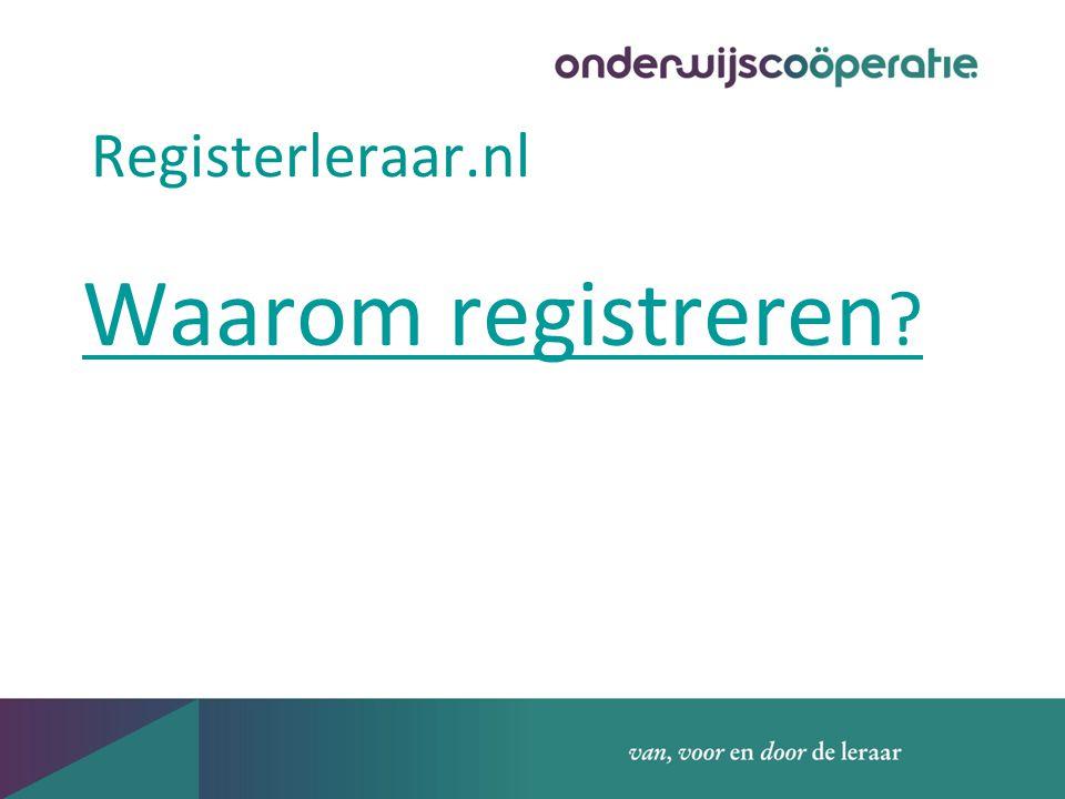 Registerleraar.nl Waarom registreren