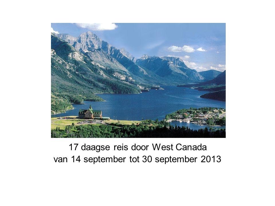 17 daagse reis door West Canada van 14 september tot 30 september 2013