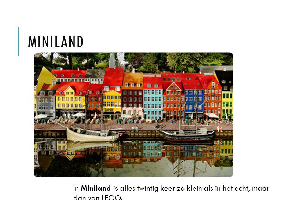 MINILAND In Miniland is alles twintig keer zo klein als in het echt, maar dan van LEGO.